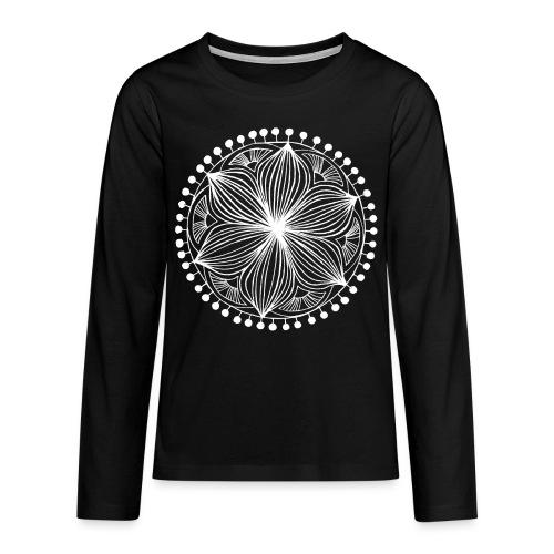 White Frankie Mandala - Teenagers' Premium Longsleeve Shirt
