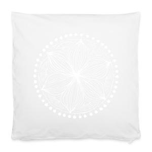 White Frankie Mandala - Pillowcase 40 x 40 cm