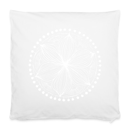 White Frankie Mandala - Pillowcase 40 x 40 cm