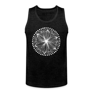 White Frankie Mandala - Men's Premium Tank Top