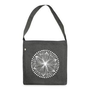 White Frankie Mandala - Shoulder Bag made from recycled material