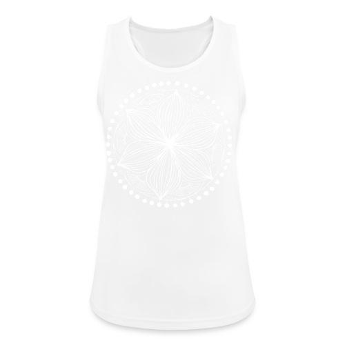 White Frankie Mandala - Women's Breathable Tank Top