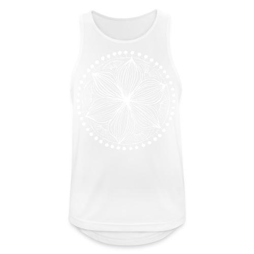 White Frankie Mandala - Men's Breathable Tank Top