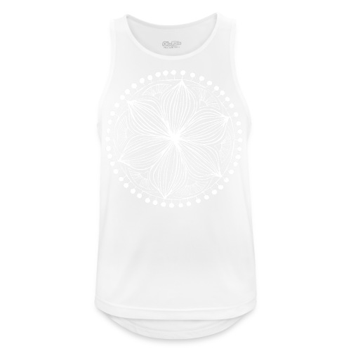 White Frankie Mandala - Men's Breathable Tank Top