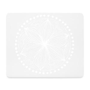 White Frankie Mandala - Mouse Pad (horizontal)