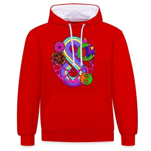 Colour Love Mandala - Contrast Colour Hoodie