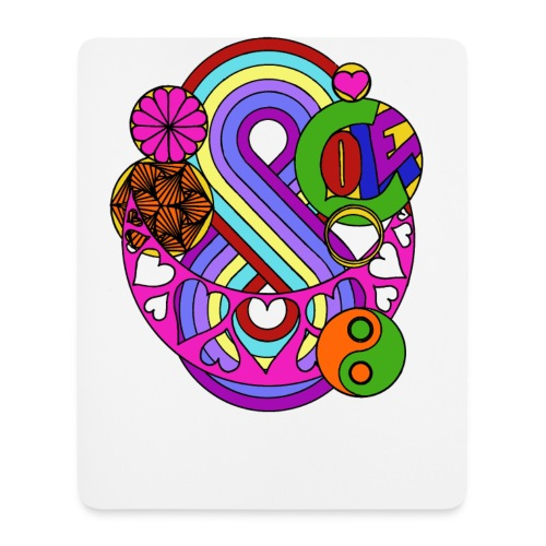 Colour Love Mandala - Mouse Pad (vertical)