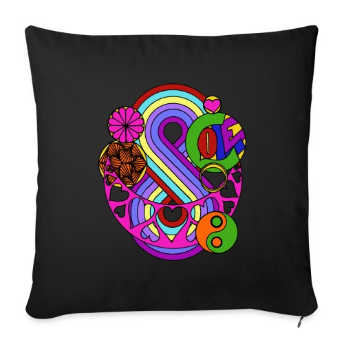Colour Love Mandala - Sofa pillow cover 44 x 44 cm