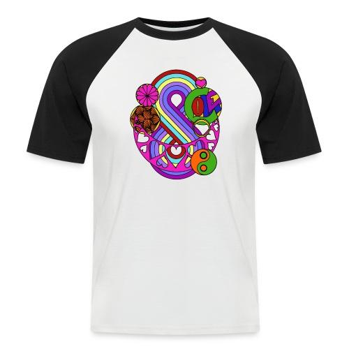 Colour Love Mandala - Men's Baseball T-Shirt