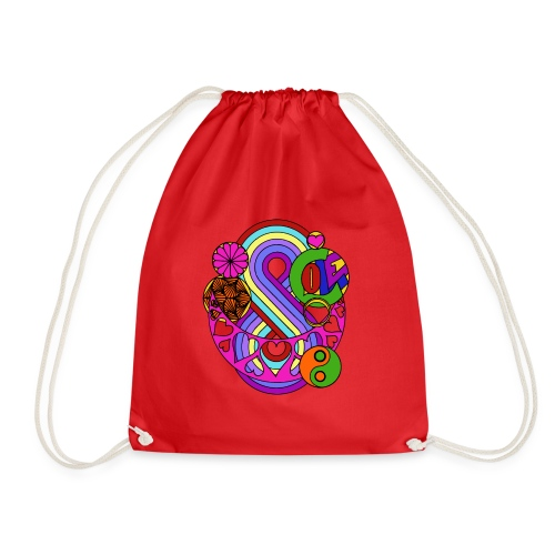 Colour Love Mandala - Drawstring Bag