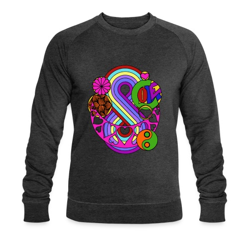 Colour Love Mandala - Men's Organic Sweatshirt by Stanley & Stella