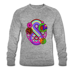 Colour Love Mandala - Men's Organic Sweatshirt by Stanley & Stella
