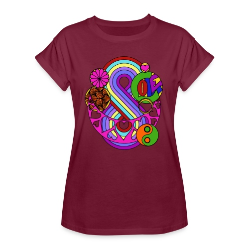 Colour Love Mandala - Women's Oversize T-Shirt