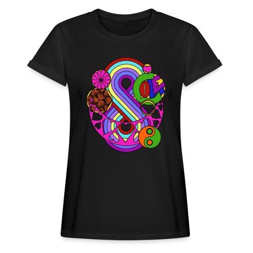 Colour Love Mandala - Women's Oversize T-Shirt