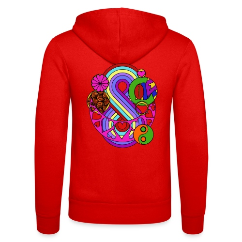 Colour Love Mandala - Unisex Hooded Jacket by Bella + Canvas