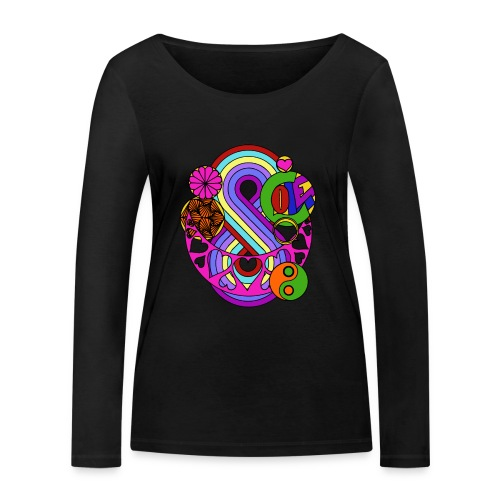 Colour Love Mandala - Women's Organic Longsleeve Shirt by Stanley & Stella