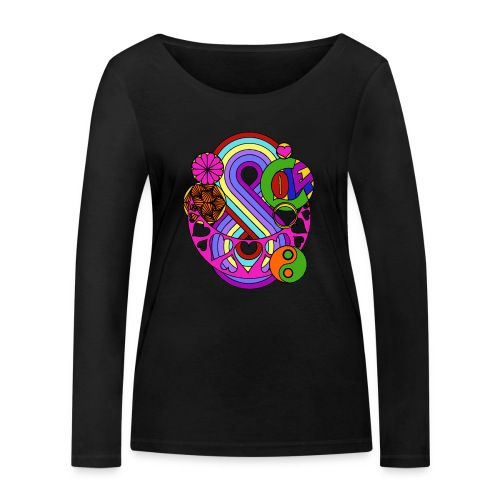 Colour Love Mandala - Women's Organic Longsleeve Shirt by Stanley & Stella
