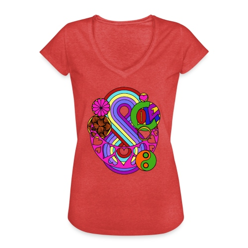 Colour Love Mandala - Women's Vintage T-Shirt