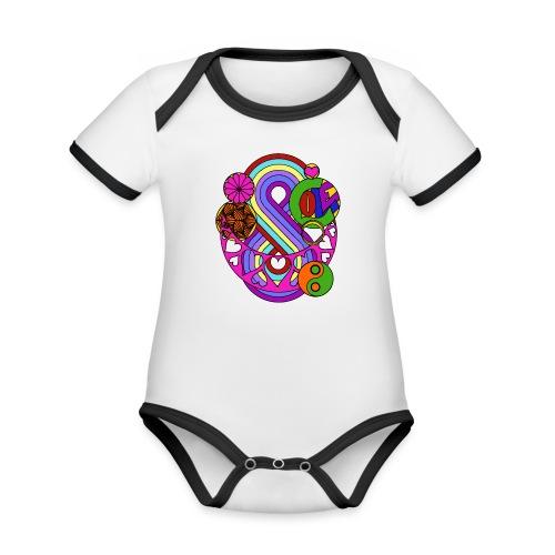 Colour Love Mandala - Organic Baby Contrasting Bodysuit