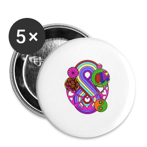 Colour Love Mandala - Buttons medium 32 mm