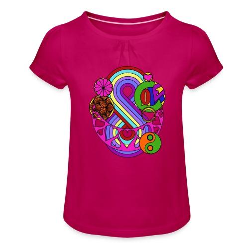 Colour Love Mandala - Girl's T-Shirt with Ruffles