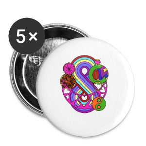 Colour Love Mandala - Buttons small 25 mm