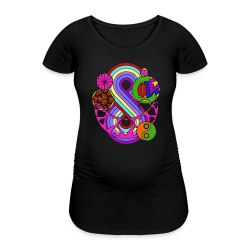 Colour Love Mandala - Women's Pregnancy T-Shirt