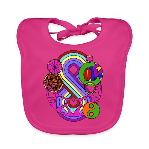 Colour Love Mandala - Baby Organic Bib