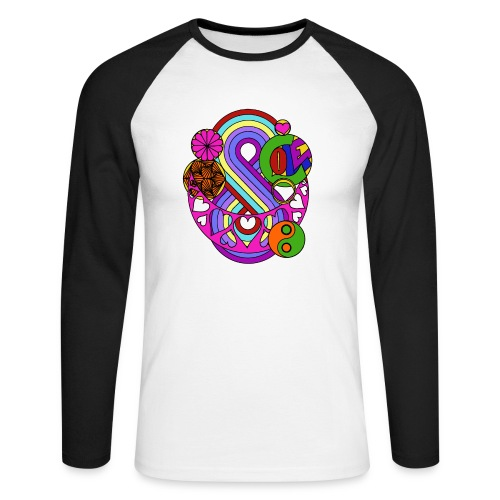 Colour Love Mandala - Men's Long Sleeve Baseball T-Shirt