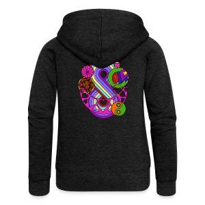Colour Love Mandala - Women's Premium Hooded Jacket