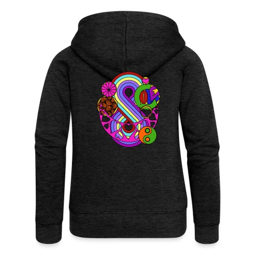 Colour Love Mandala - Women's Premium Hooded Jacket