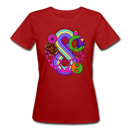 Colour Love Mandala - Women's Organic T-Shirt