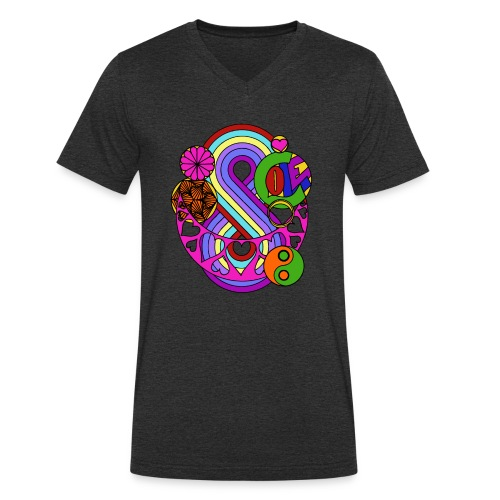 Colour Love Mandala - Men's Organic V-Neck T-Shirt by Stanley & Stella
