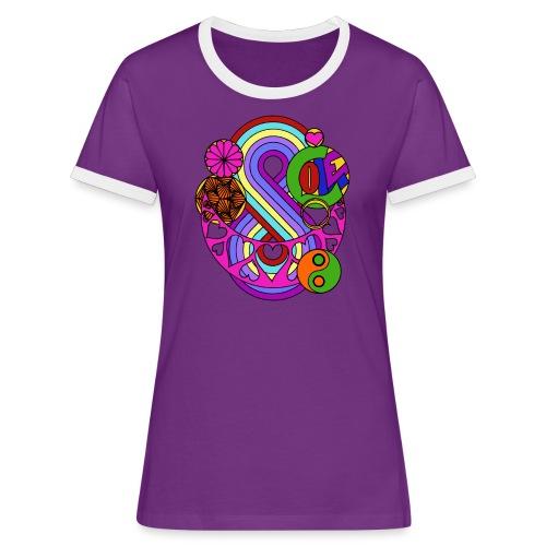 Colour Love Mandala - Women's Ringer T-Shirt