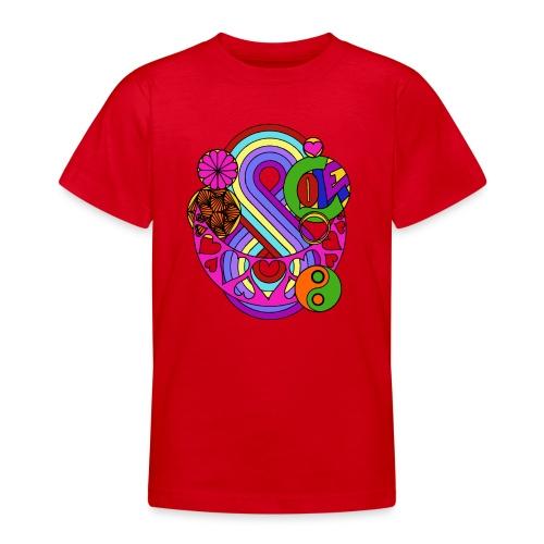 Colour Love Mandala - Teenage T-Shirt