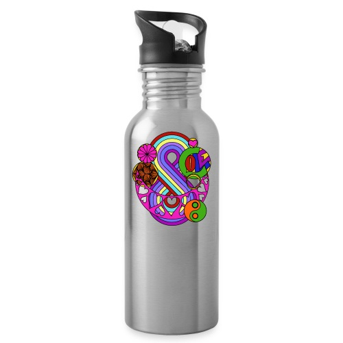 Colour Love Mandala - Water Bottle