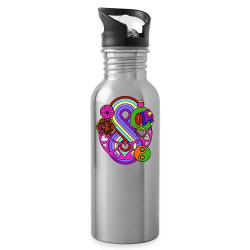 Colour Love Mandala - Water Bottle
