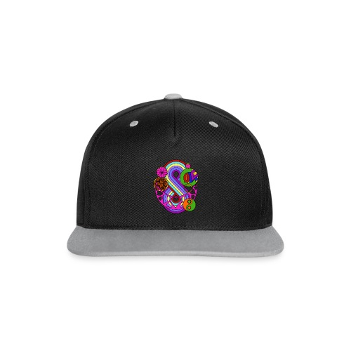 Colour Love Mandala - Contrast Snapback Cap