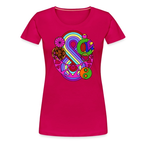 Colour Love Mandala - Women's Premium T-Shirt