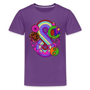 Colour Love Mandala - Teenage Premium T-Shirt