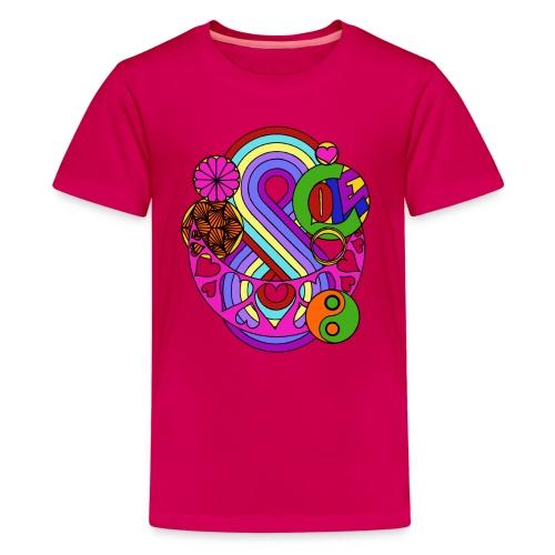 Colour Love Mandala - Teenage Premium T-Shirt