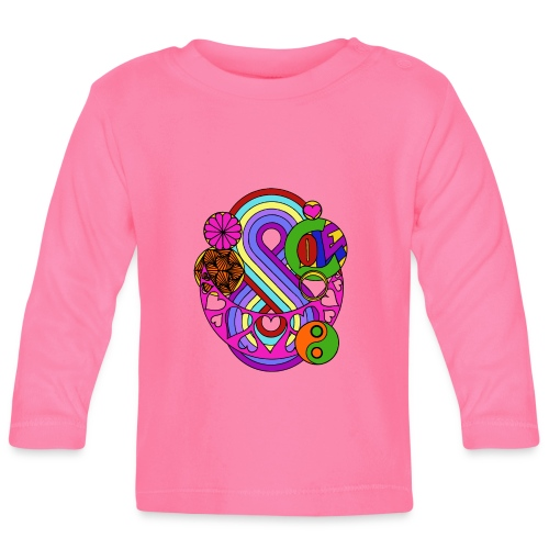 Colour Love Mandala - Baby Long Sleeve T-Shirt