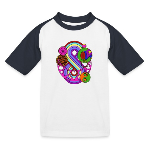 Colour Love Mandala - Kids' Baseball T-Shirt