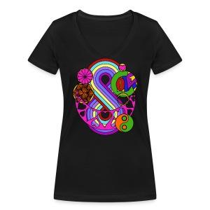 Colour Love Mandala - Women's Organic V-Neck T-Shirt by Stanley & Stella