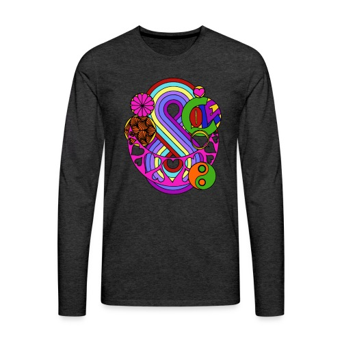 Colour Love Mandala - Men's Premium Longsleeve Shirt