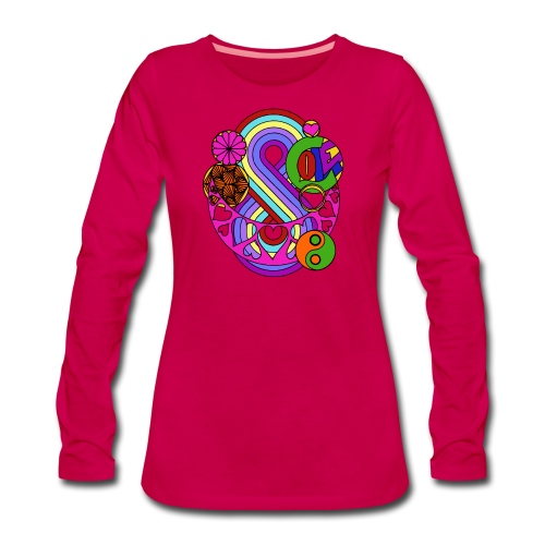 Colour Love Mandala - Women's Premium Longsleeve Shirt