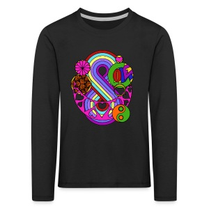 Colour Love Mandala - Kids' Premium Longsleeve Shirt
