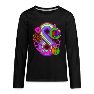 Colour Love Mandala - Teenagers' Premium Longsleeve Shirt