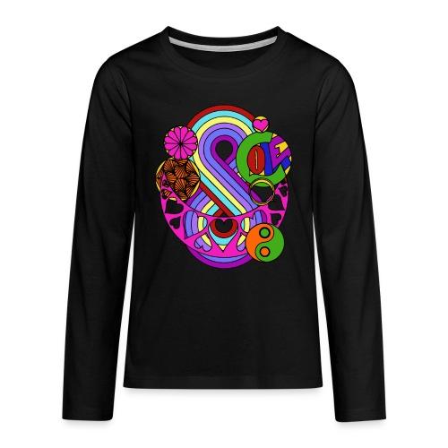 Colour Love Mandala - Teenagers' Premium Longsleeve Shirt