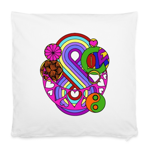 "Colour Love Mandala - Pillowcase 16"" x 16"" (40 x 40 cm)"